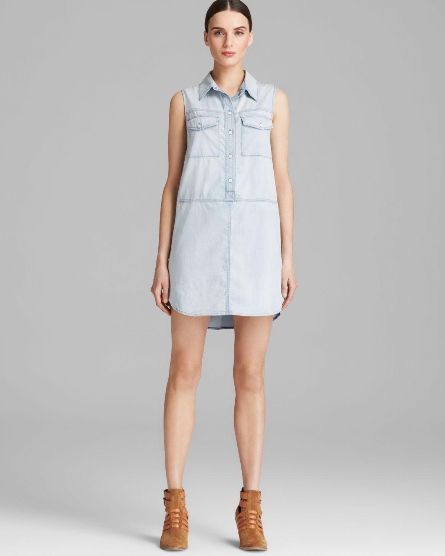 model boyish dress pendek dari bahan blue jeans